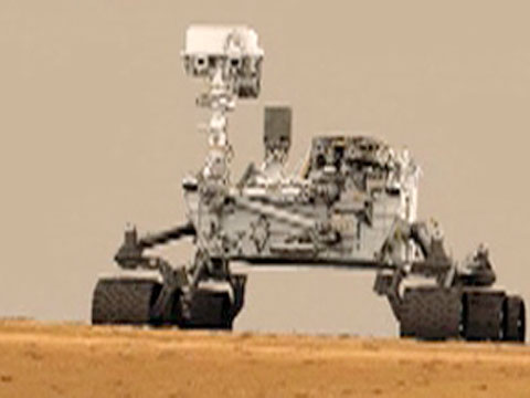 Curiosity Rover Landing Sequence Animation