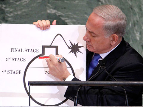 Netanyahu's bomb drawing